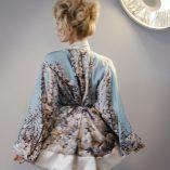 Short Kimono in St. Elmo Print