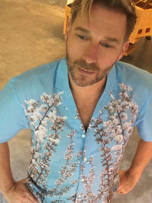 Short Sleeve Mens Shirt in St. Elmo Print