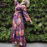 40s70s Long Kimono in Anna Print