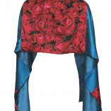 Mixed Print Luxury Wrap in Gypsy Rose Print