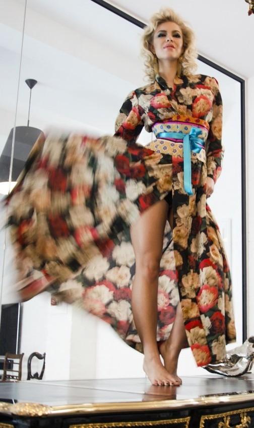 40s70s Kimono in Forever England Print
