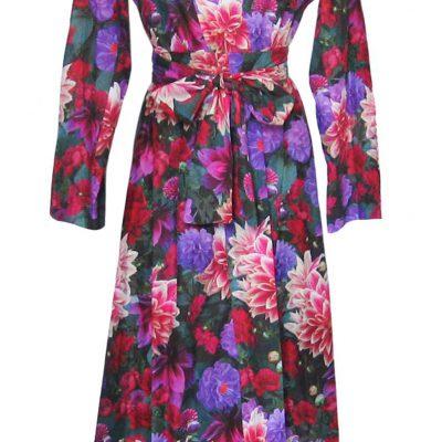 Cotton 40s70s Kimono in Anna Print