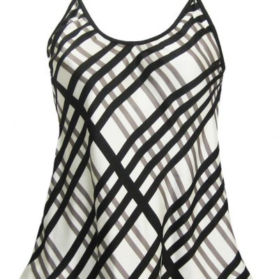 Camisole in Black and White Check Print