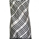 Slip Dress in Black and White Check Print