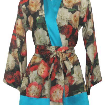 Short Kimono in Forever England Print