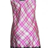 Slip Dress in Pink Check Print