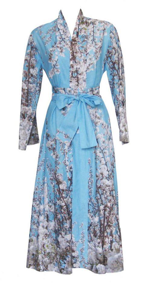 40s70s Cotton Kimono in St. Elmo Print